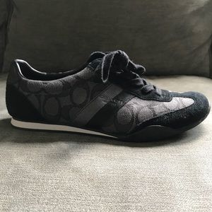 Black Coach sneakers. Size 7